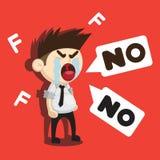 Falhe uns desenhos animados do sumário do exame Imagem de Stock Royalty Free