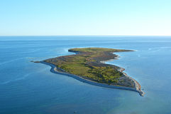 Falholmen island on Gotland in Sweden, Aerialview Royalty Free Stock Photography