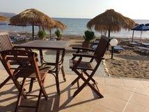 Faliraki beach cafe, Rhodes island, Greece Royalty Free Stock Photos