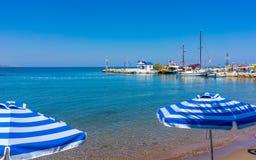 Faliraki Beach Rhodes Stock Image