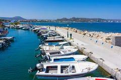 Faliraki Harbour Rhodes Stock Photo