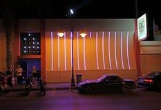 Faliraki night life and restaurant. Rhodes island, Greece Royalty Free Stock Photo