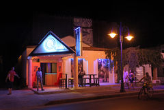 Faliraki night life and restaurant. Rhodes island, Greece Stock Images