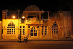 Faliraki by night. Rhodes island, Greece Stock Photography
