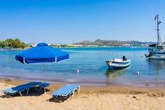 Faliraki strand Rhodes Royaltyfri Foto