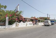 Faliraki street. Rhodes island, Greece Stock Photography
