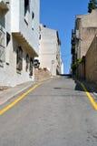 Falista droga w l'Escala, Hiszpania Fotografia Royalty Free