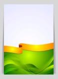 Falista tło ulotka z jaskrawym faborkiem Zdjęcia Royalty Free