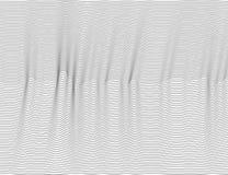 Faliste abstrakcjonistyczne ciemne linie Wektorowy tekstura lampasów wzór, odosobniony biały tło Sprawnie narzuta, łatwa zmieniać ilustracja wektor