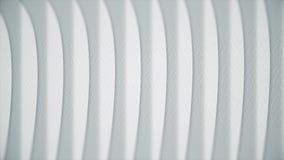 Faliste białe linie na papierze Abstrakcjonistyczna animacja papierowa tekstura z liniami Krzywy obracają w linie proste ilustracja wektor