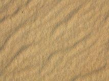 Falisty żółty piasek tekstury tło fotografia royalty free