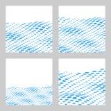 Falisty Halftone tło Ustawiający Dla teksta Karta, sztandaru szablon Ve Fotografia Stock