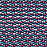 Falisty koloru wzór - wektorowy powtarzalny tło royalty ilustracja