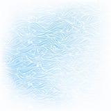 Falisty pociągany ręcznie bielu wzór na błękitnym tle ilustracja wektor
