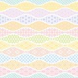 Falisty tło z Japońskim tradycyjnym projektem Obraz Stock