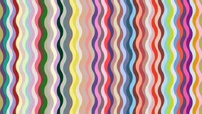 Falisty tło z setem modny lato barwi royalty ilustracja