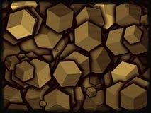 Falisty złoto Zdjęcia Stock
