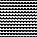 Falisty zygzag wykłada bezszwowego wzór Zniekształcająca linii tekstura Zdjęcie Stock