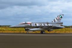 Falk för General Dynamics F--16stridighet på NATO Tiger Meet M2014 fotografering för bildbyråer