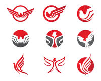 Falke Logo Template Lizenzfreie Stockfotografie