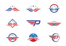 Falke Logo Template Stockfotografie