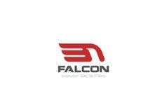 Falke-Logozusammenfassungs-Designvektor Eagle Hawk bir Lizenzfreie Stockfotografie
