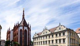 Falkenhaus nel rzburg del ¼ di WÃ alla Baviera Germania del cielo blu fotografia stock libera da diritti