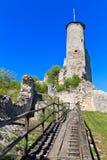 Falkenstein城堡废墟,南奥地利 免版税库存照片