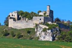 Falkenstein城堡废墟,南奥地利 免版税图库摄影
