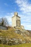 Falkenstein城堡的废墟在Koenigstein 免版税库存图片