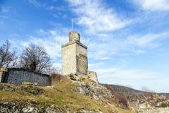 Falkenstein城堡的废墟在Koenigstein 免版税图库摄影