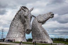 Falkirk, Escocia, 2016, el 27 de junio: Kelpies del artista Andrew Scott Foto de archivo libre de regalías