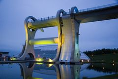 falkirk night wheel Στοκ φωτογραφία με δικαίωμα ελεύθερης χρήσης