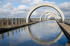 FALKIRK, REGIÓN CENTRAL ESCOCIA - 2 de marzo la sección superior del canal de la atracción turística de la rueda de Falkirk en Fal Imagenes de archivo