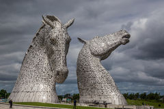 Falkirk, Scotland, 2016, June 27: Kelpies by the artist Andrew Scot. The world`s largest equine sculptures in Helix Park, Falkirk stock photo