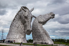 Falkirk, Scotland, 2016, June 27: Kelpies by the artist Andrew Scott. These are the world`s largest equine sculptures royalty free stock photo