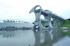 The Falkirk Wheel. Futuristic looking canal wheel in Falkirk Royalty Free Stock Images