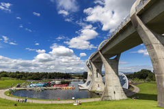 Falkirk Wheel with blue sky in Falkirk Scotland Royalty Free Stock Images