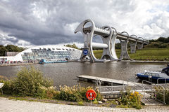 Falkirk Wheel. Futuristic boat lift Falkirk Wheel in Scotland Stock Image