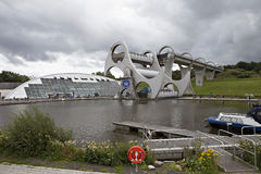 Falkirk Wheel. Futuristic boat lift Falkirk Wheel in Scotland Royalty Free Stock Photography