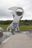 Falkirk Wheel. Futuristic boat lift Falkirk Wheel in Scotland Royalty Free Stock Images