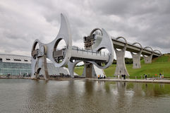 Falkirk Wheel in Motion, Scotland Royalty Free Stock Photos