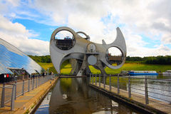 The Falkirk Wheel in Scotland Royalty Free Stock Photo