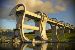 The Falkirk Wheel at Sunset Stock Photography