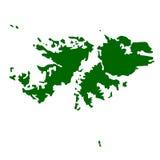 Falkland Islands. Map of Falkland Islands isolated on white background Royalty Free Stock Photography