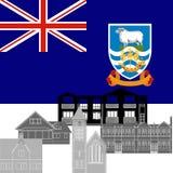Falkland Islands stock de ilustración