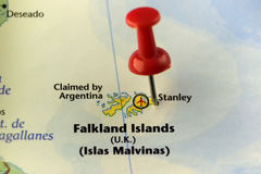 Falkland Islands claimed by Argentina but still in hands of UK Stock Photo
