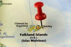 Falkland Islands door Argentinië maar nog in handen van het UK wordt geëist dat Stock Foto