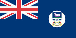 Falkland Islands flag. Illustration of Falkland Islands flag Stock Photo