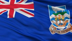 Falkland Islands Flag Closeup View vektor illustrationer